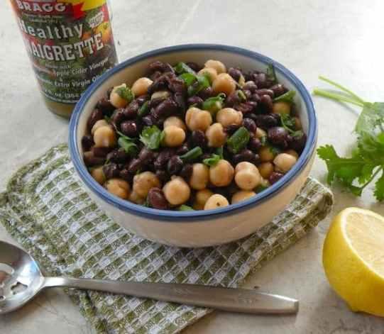 Simple marinated bean salad