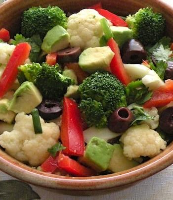 Marinated broccoli and cauliflower salad recipe