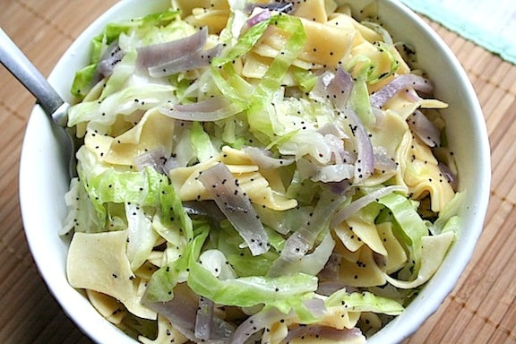 Hungarian style noodles with cabbage and poppy seeds hungarian style noodles with cabbage forumfinder Image collections