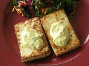 lemon-pepper tofu