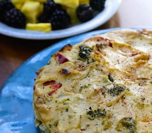 Vegan Broccoli Frittata recipe by Alicia Simpson