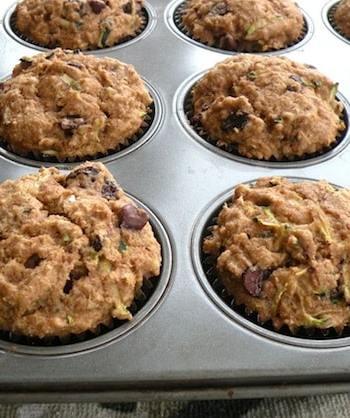 Zucchini-raisin muffins