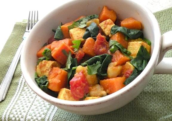 Easy Curried Sweet Potatoes and Tofu recipe