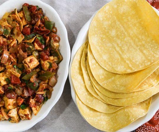 Southwestern Tofu Scramble (Migas) recipe