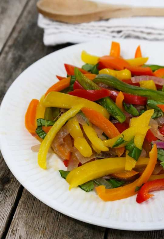 Rainbow Peppers and Red Onioin