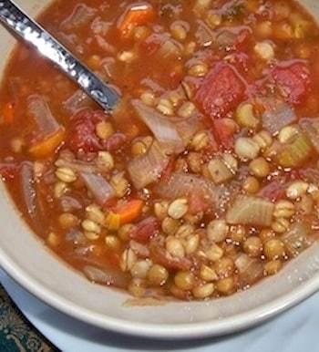 Tomato, Lentil, and Barley Soup