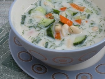 Cold White bean and cucumber soup