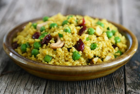 Curried cashew couscous