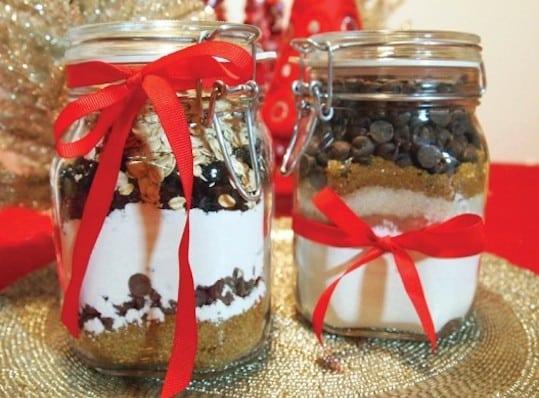 Jars of Vegan Cookie Mix