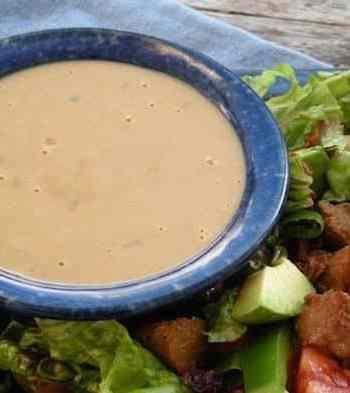 Tangy tahini salad dressing