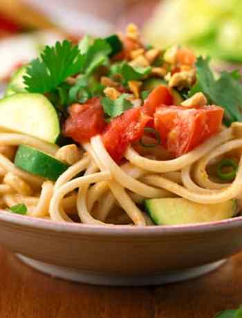 Spicy Asian Peanut Ginger Noodles
