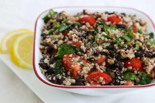 Quinoa and Black Bean Tabbouli salad