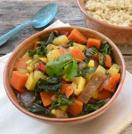 Kale, Yellow Squash, and Sweet Potato Stew recipe 2