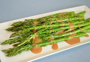 grilled asparagus with tangy dijon sauce