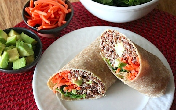 Eating Healthy on a Budget Vegan Sandwiches and Wraps Carrots Avocado Lettuce