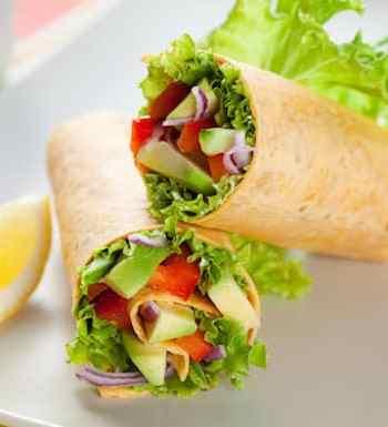 Tossed salad wraps
