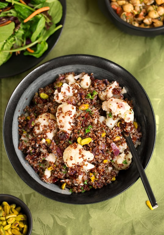 Quinoa with Cauliflower and nuts