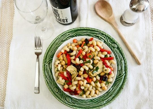 Pasta Salad with Chickpeas and Artichokes