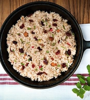cranberry rice pilaf by leslie cerier