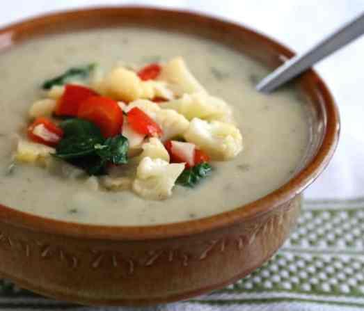 Vegan cream of cauliflower soup recipe