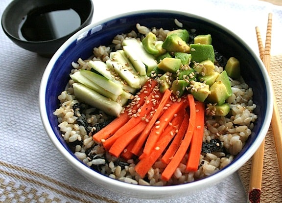 Veggie Sushi Rice Bowl