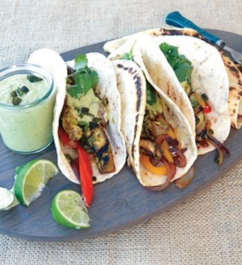 Portobello Fajitas by Zsu Dever from Everyday Vegan Eats