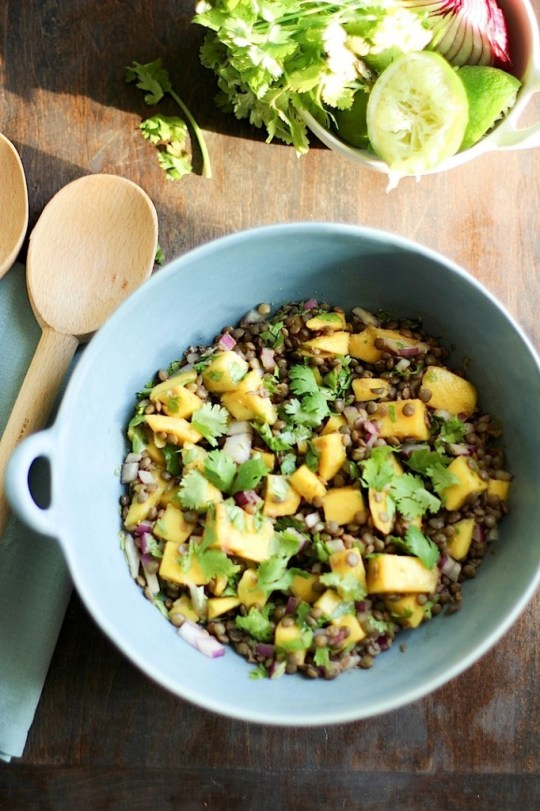 Mango Lentil Salad by Sophia Z from Love and Lentils