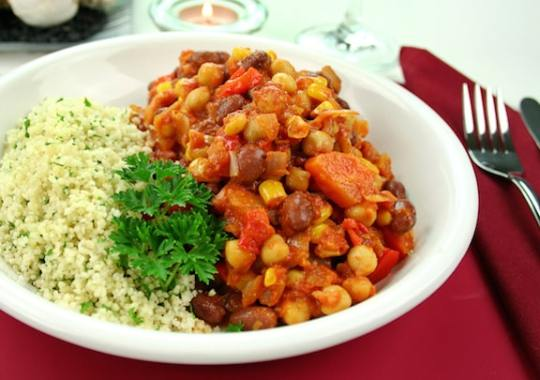 Quick Vegan Mixed Beans Chili