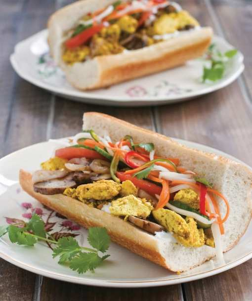 Scrambled Tofu Breakfast Bahn Mi by Terry Hope Romero from Vegan Eats World