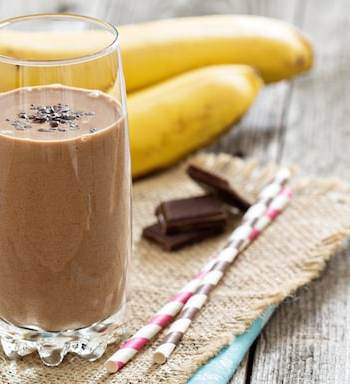 mocha maca banana smoothie