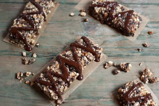 Chocolate Nutty Bars from Leslie Cerier