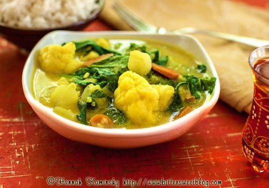 Coconut cauliflower curry recipe