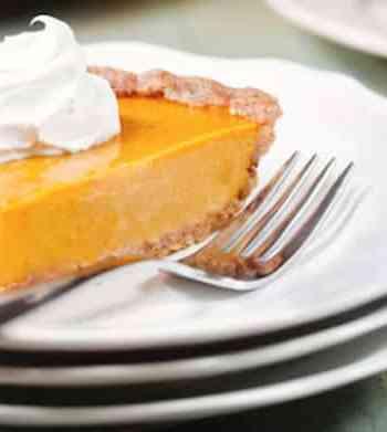 Vegan Praline pumpkin pie by Allison Rivers Samson