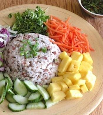 Thai Composed Rice Salad (Kao Yum Pahk Dai)