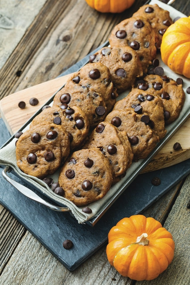 Pumpkin Chocolate Chip Cookies But I Could Never Go Vegan by Kristy Turner