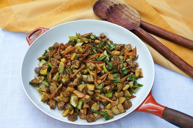 Ginger Vegetable Tempeh Stir-Fry from Leslie Cerier