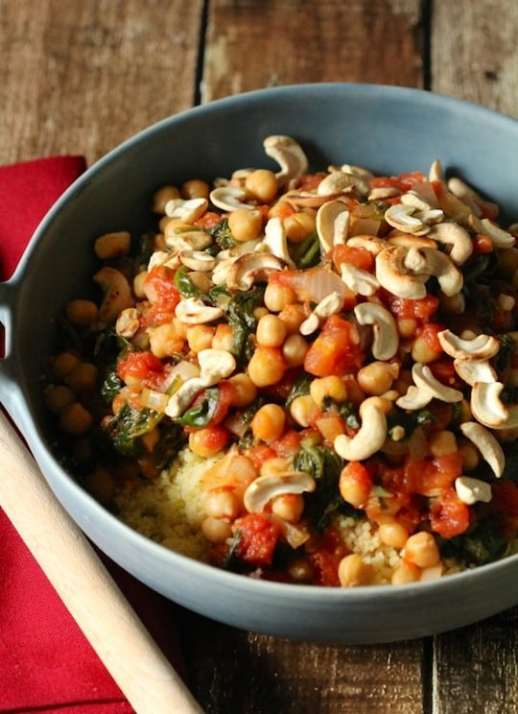 Spinach and chickpea couscous2 from Love and Lentils