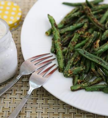 Green bean fries with ranch dressing