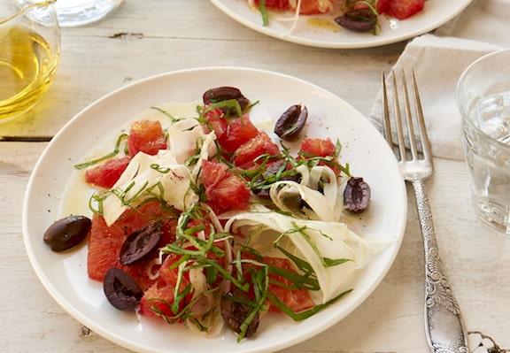 Blood orange and olive salad by Jason Wyrick