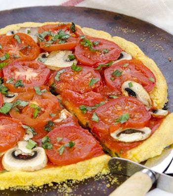 Polenta Pizza Crust recipe by Dreena Burton