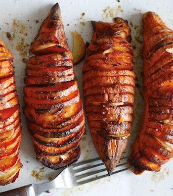 Accordion-Style Sweet Potatoes