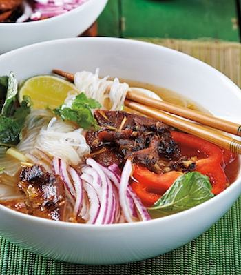 Lemongrass Noodle Bowl with Mock Duck by Isa Moskowitz