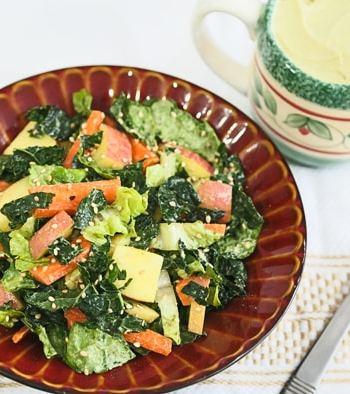 Kale, Romaine, and Apple Salad
