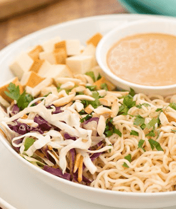 Ramen slaw with tofu by Kathy Freston