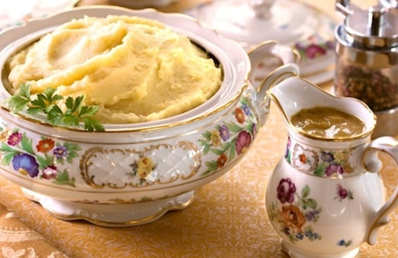 Mashed Potatoes with Onion gravy