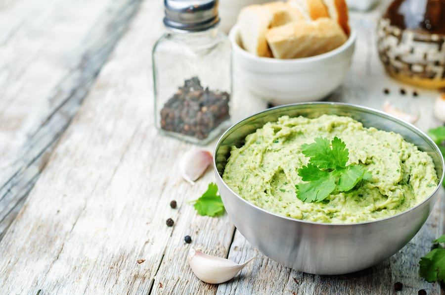 Avocado Cilantro Lime Hummus