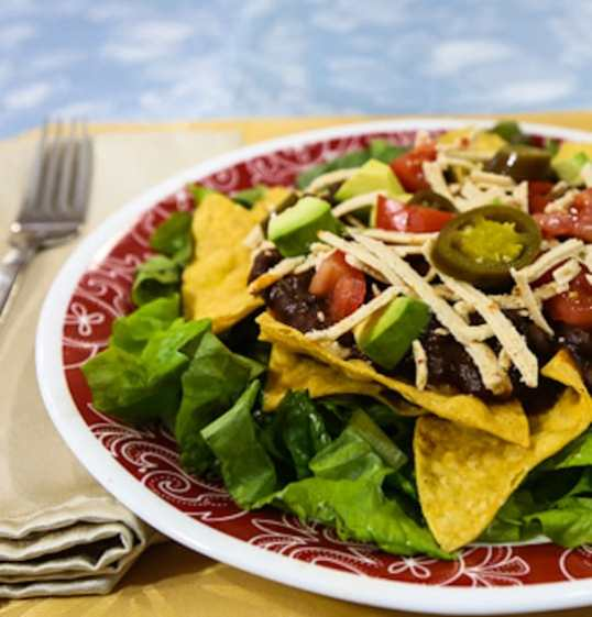Layered Vegan Taco Salad recipe