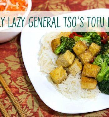 Lazy General Tso's Tofu Dinner