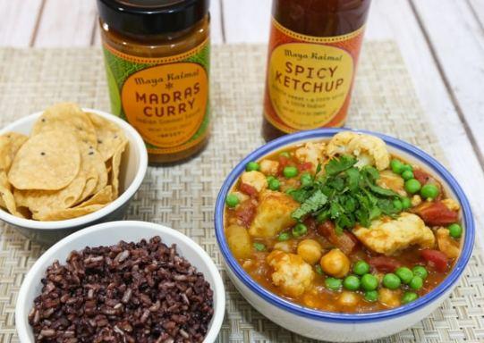 Masala Vegetables with Maya Kaimal Indian Simmer sauce