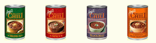 Amy's chili - vegan varieties